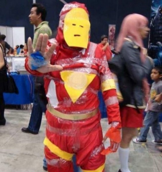 Some people take more time creating their costumes than others.