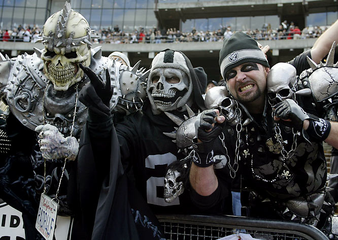 Or if you're at a Raiders game, being shanked in the belly with a filed down screwdriver.